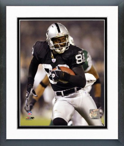 Oakland Raiders Jerry Rice 2002 Action Framed Photo