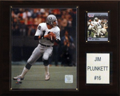 "Oakland Raiders Jim Plunkett 12 x 15"" Player Plaque"