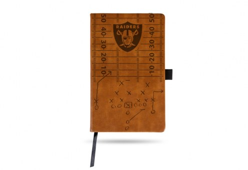 Las Vegas Raiders Laser Engraved Brown Notepad