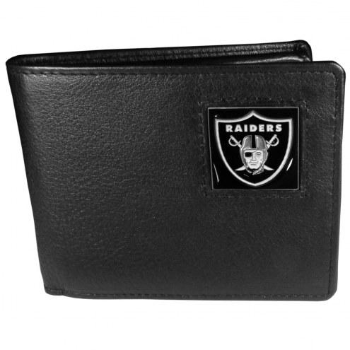 Las Vegas Raiders Leather Bi-fold Wallet in Gift Box