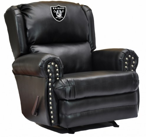 Oakland Raiders Leather Coach Recliner
