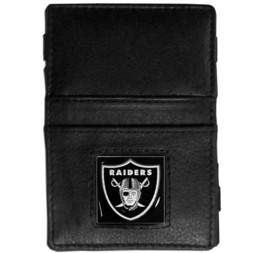Las Vegas Raiders Leather Jacob's Ladder Wallet