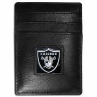 Las Vegas Raiders Leather Money Clip/Cardholder in Gift Box