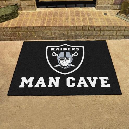 Oakland Raiders Man Cave All-Star Rug
