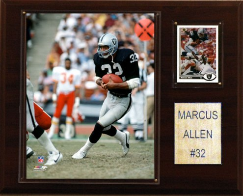 "Oakland Raiders Marcus Allen 12 x 15"" Player Plaque"