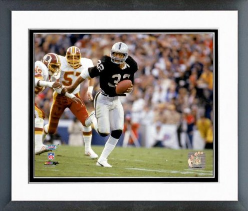 Oakland Raiders Marcus Allen Superbowl XVIII 1984 Action Framed Photo