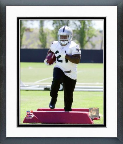 Oakland Raiders Maurice Jones-Drew Mini Camp Action Framed Photo