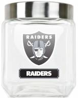 Oakland Raiders Medium Glass Canister