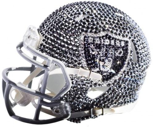 Las Vegas Raiders Mini Swarovski Crystal Football Helmet
