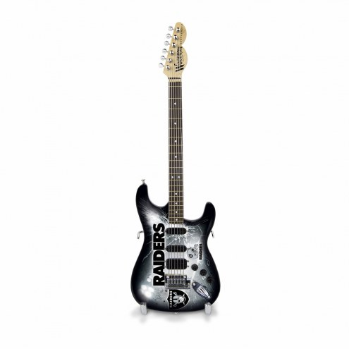 Oakland Raiders Mini Collectible Guitar