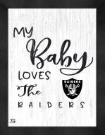Las Vegas Raiders My Baby Loves Framed Print
