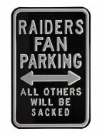 Oakland Raiders NFL Authentic Parking Sign