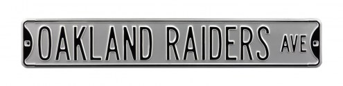 Oakland Raiders NFL Authentic Street Sign