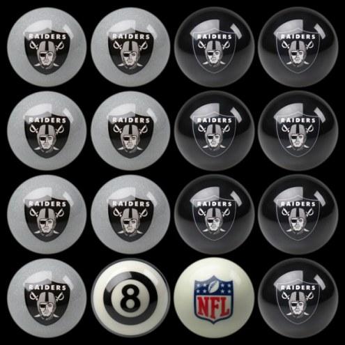 Las Vegas Raiders NFL Home vs. Away Pool Ball Set