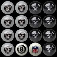 Oakland Raiders NFL Home vs. Away Pool Ball Set