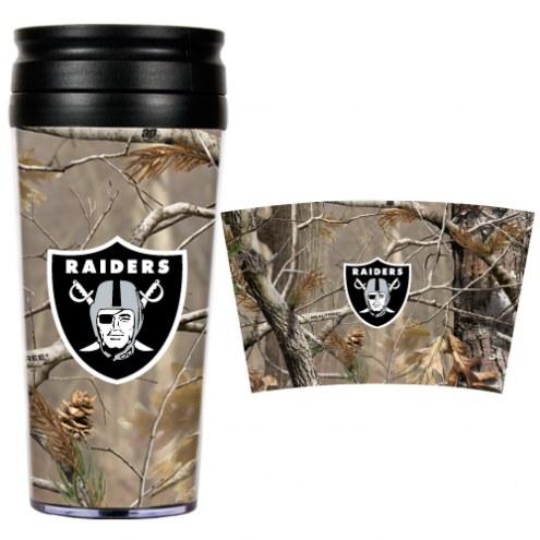 Oakland Raiders NFL RealTree Camo Coffee Mug Tumbler
