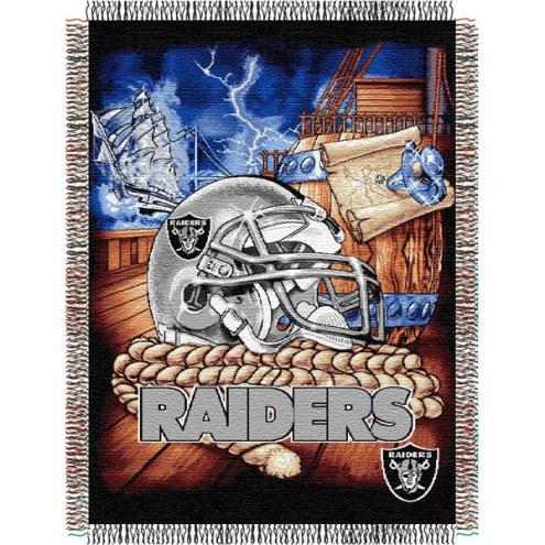 Las Vegas Raiders NFL Woven Tapestry Throw