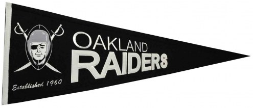 Oakland Raiders NFL Throwback Pennant