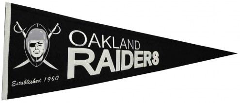 Oakland Raiders NFL Throwback Pennant