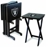 Oakland Raiders NFL TV Trays - Set of 4
