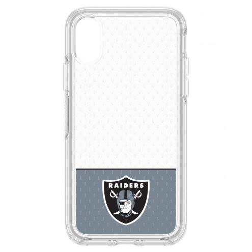 Oakland Raiders OtterBox iPhone X Symmetry Clear Case