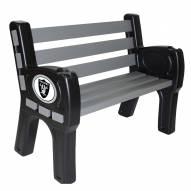 Las Vegas Raiders Park Bench