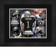 Las Vegas Raiders Personalized 13 x 16 Framed Action Collage