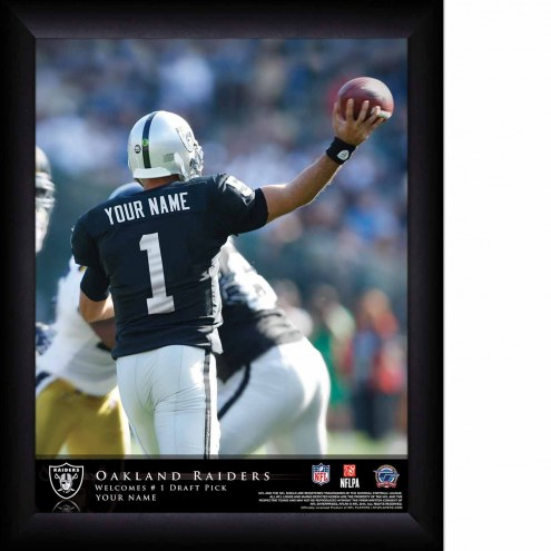 Oakland Raiders Personalized 11 x 14 NFL Action QB Framed Print