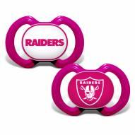 Las Vegas Raiders Baby Pacifier 2-Pack