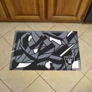 Oakland Raiders Quicksnap Scraper Door Mat