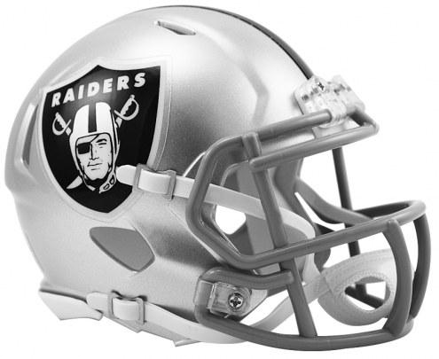 Oakland Raiders Riddell Speed Mini Collectible Football Helmet
