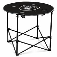 Las Vegas Raiders Round Folding Table