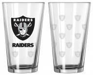 Oakland Raiders Satin Etch Pint Glass - Set of 2