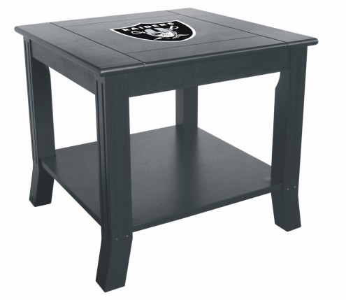 Oakland Raiders Side Table