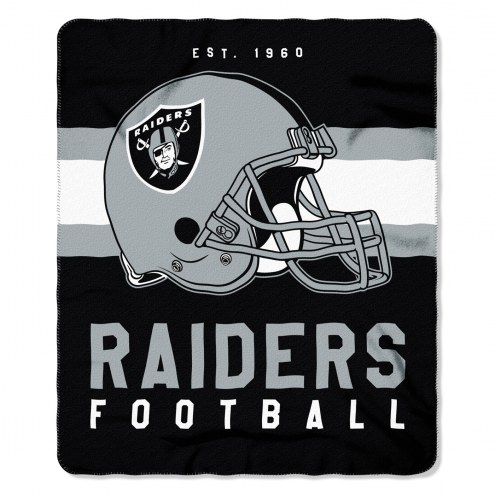 Oakland Raiders Singular Fleece Blanket