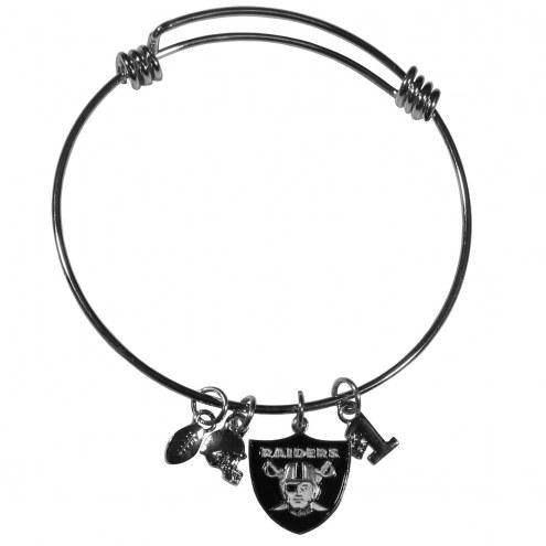 Las Vegas Raiders Charm Bangle Bracelet