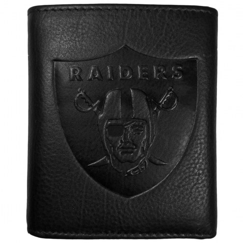 Las Vegas Raiders Embossed Leather Tri-fold Wallet
