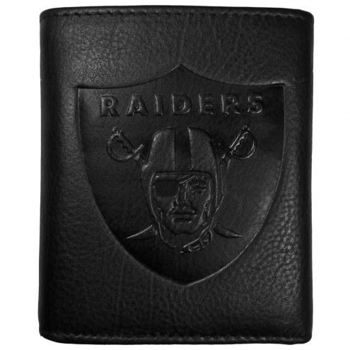 Las Vegas Raiders Embossed Leather Tri-fold Wallet