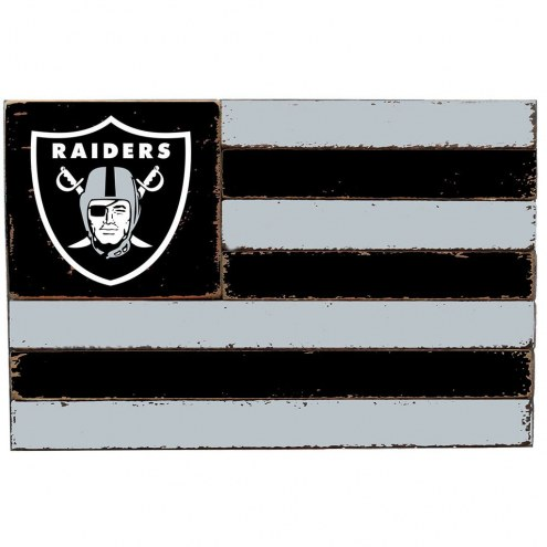 Oakland Raiders Small Flag Wall Art