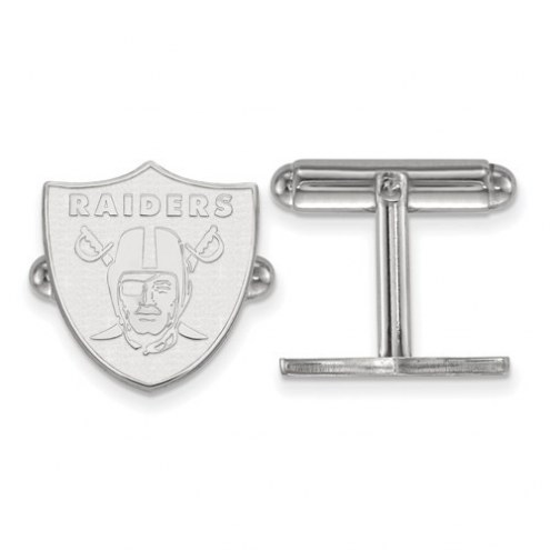 Oakland Raiders Sterling Silver Cuff Links
