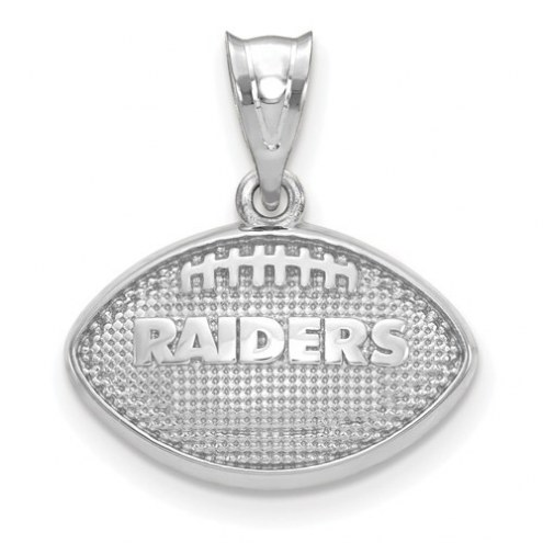 Oakland Raiders Sterling Silver Football with Logo Pendant