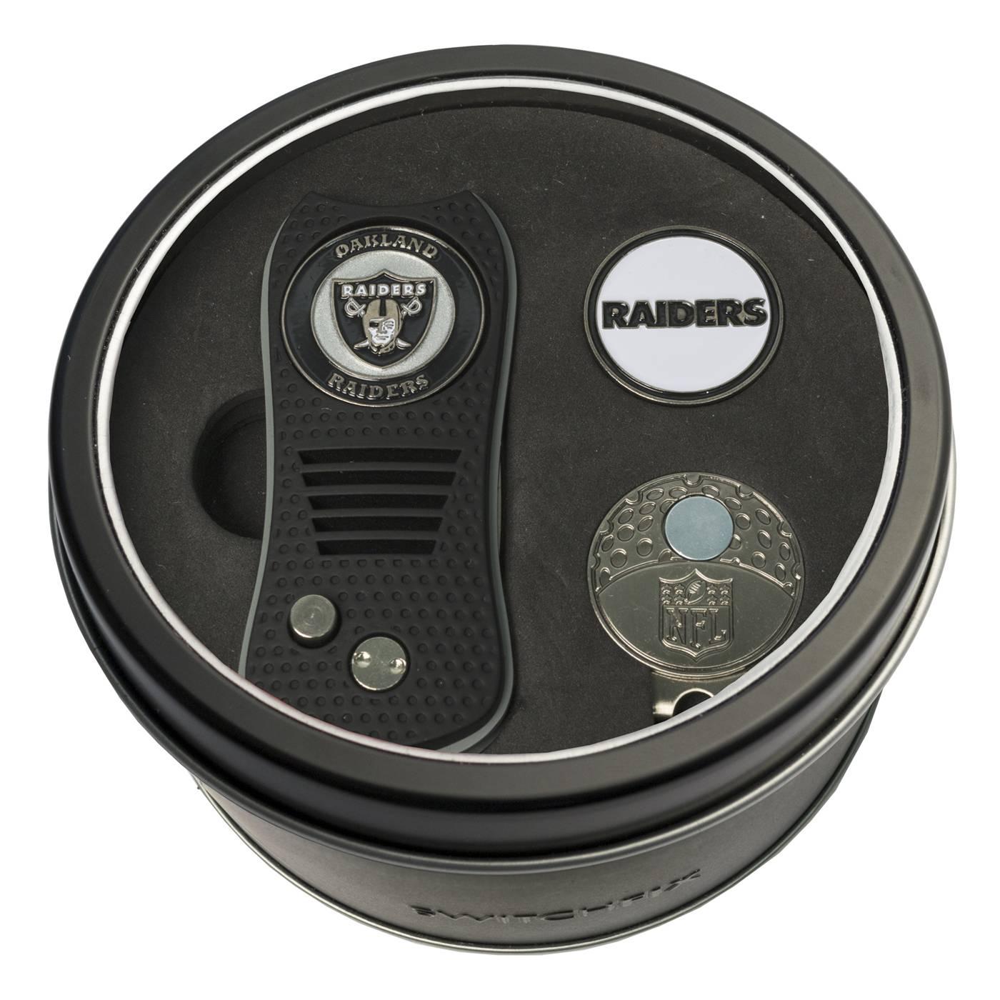55c2a05a Oakland Raiders Switchfix Golf Divot Tool, Hat Clip, & Ball Marker