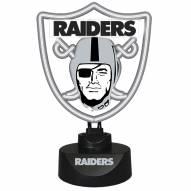 Oakland Raiders Team Logo Neon Lamp