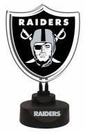 Oakland Raiders Team Logo Neon Light