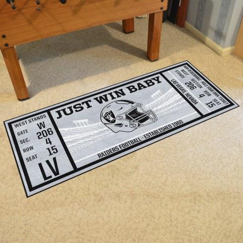 Oakland Raiders Ticket Runner Rug