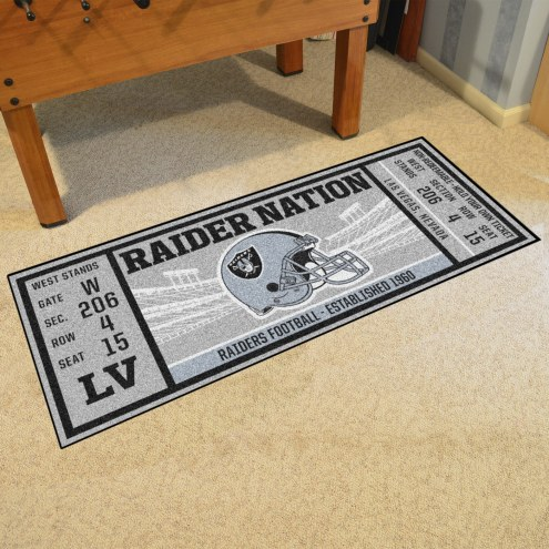 Oakland Raiders Ticket Runner Rug