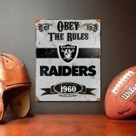 Oakland Raiders Vintage Metal Sign