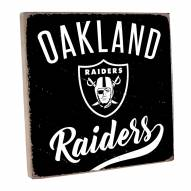 Oakland Raiders Vintage Square Wall Sign