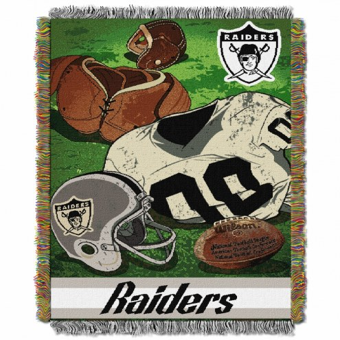 Oakland Raiders Vintage Throw Blanket