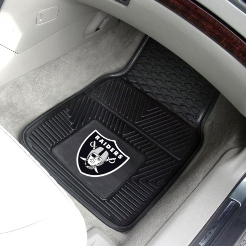 Oakland Raiders Vinyl 2-Piece Car Floor Mats